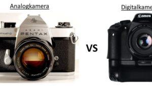 Analog-Kamera und Digitalkamera gegenübergestellt
