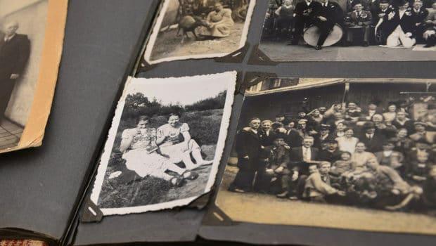 Altes Fotoalbum mit Erinnerungen