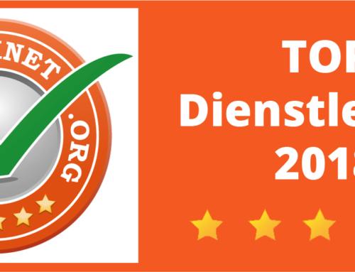 ScanCorner wird ausgezeichnet– Top Dienstleister 2018!